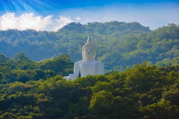 Weiße buddha-statue