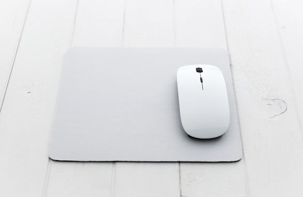 Weiße computermaus