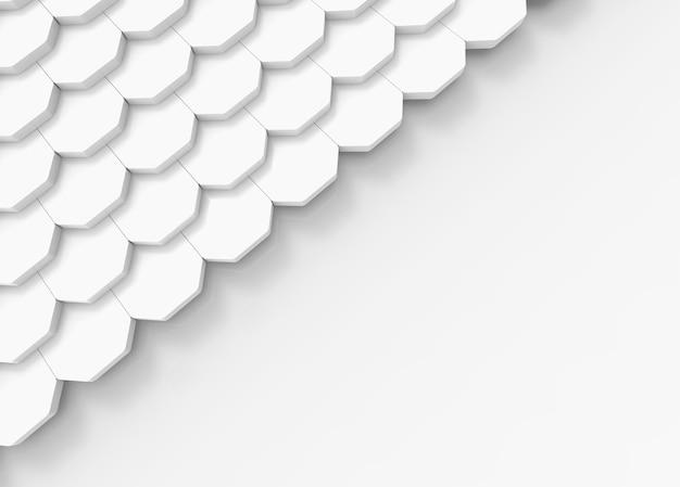 Weiße dachfliesen auf kopienraum-grauhintergrund