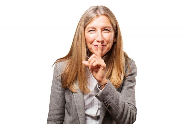 Weiße dame spaß geschäft ältere menschen