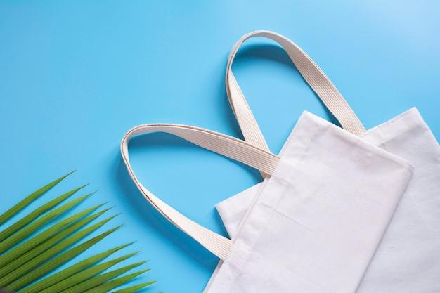 Weiße einkaufstasche canvas stoff