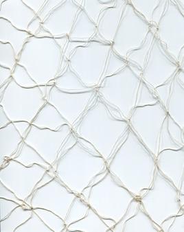 Weiße faden-fischernetzstruktur