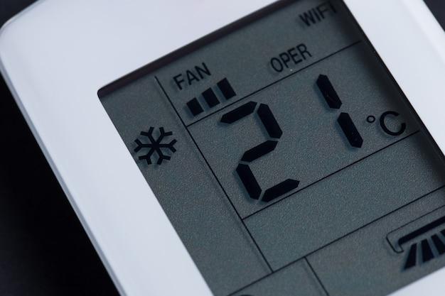 Weiße fernbedienung für klimaanlage