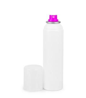 Weiße flasche mit antitranspirant-deodorant-roll-on für den körper isoliert auf weißem hintergrund