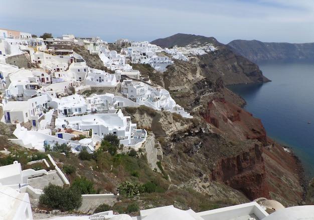 Weiße griechische inselartarchitektur