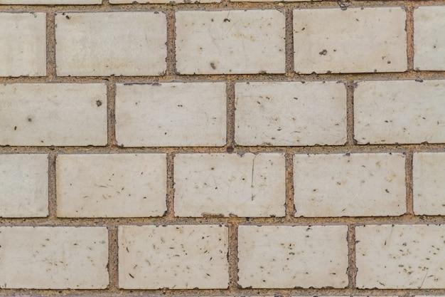 Weiße grunge backsteinmauerbeschaffenheit.