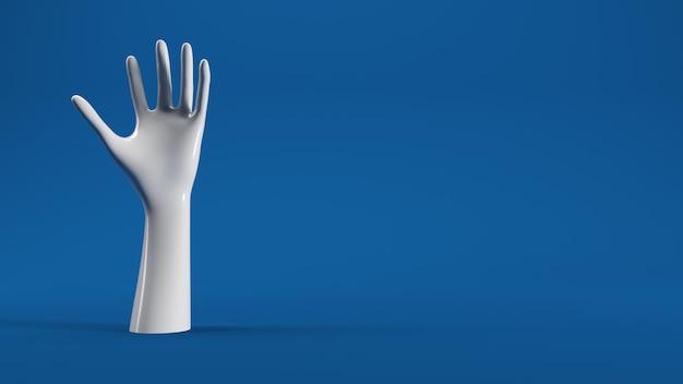 Weiße Hand