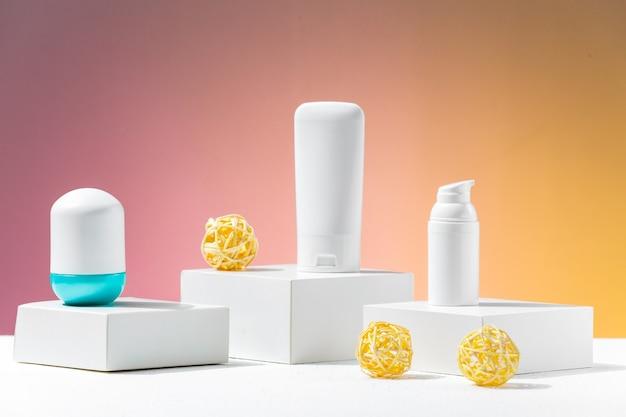 Weiße hautpflegeprodukte ohne haftung für die werbung