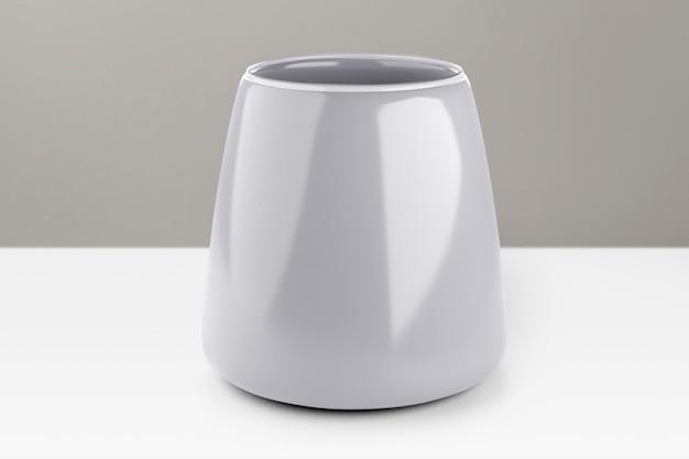 Weiße keramik teetasse wohnkultur
