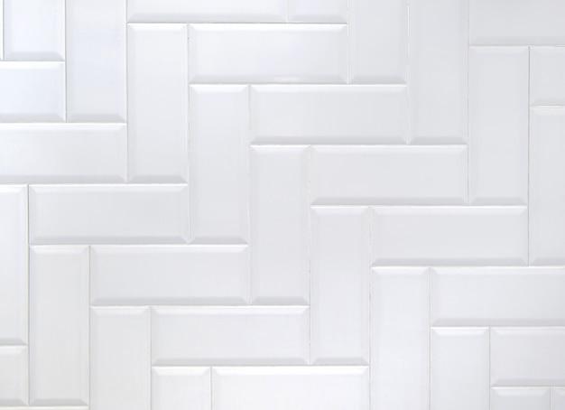 Weiße keramische ziegelsteinfliese wal