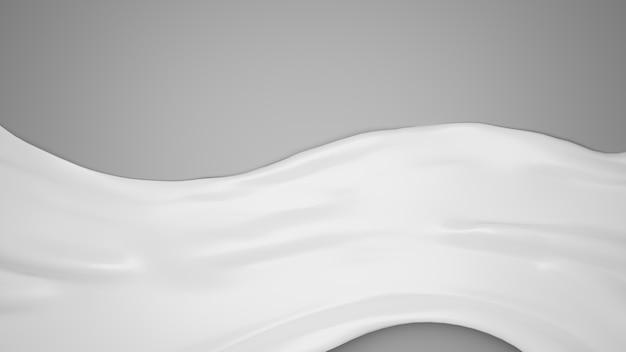 Weiße kosmetische creme 3d