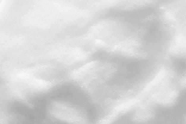 Weiße kosmetische schaumbeschaffenheit