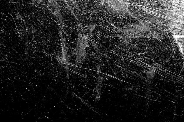 Weiße kratzer auf schwarzem grund. vorlage für design