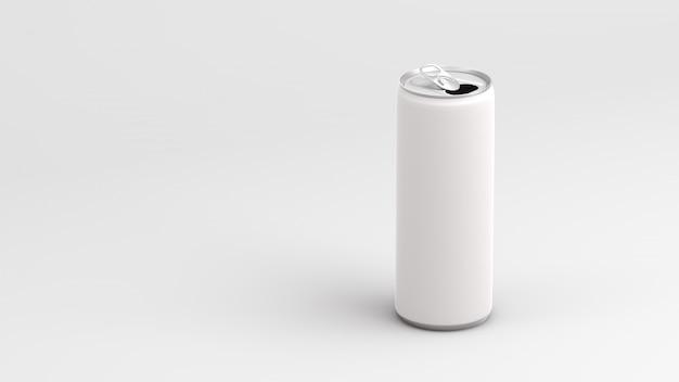 Weiße leere dose auf weißem hintergrund 3d übertragen