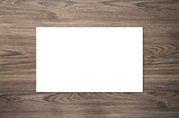 Weiße leere namenskarte oder visitenkarte