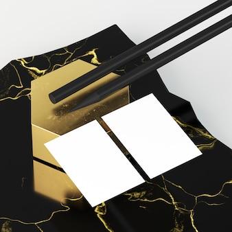 Weiße leere papierdokumente und schwarze stifte