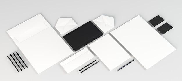 Weiße leere papierdokumente