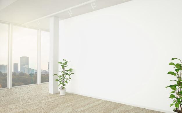 Weiße leere wand im büro
