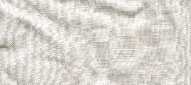 Weiße leinwand textur. natürlicher weißer leinenhintergrund