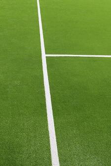 Weiße linien der grünen rasenflächebeschaffenheit des paddeltennisses