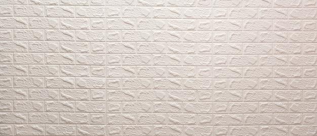 Weiße mauer. klare weiße backsteinmauerbeschaffenheit.