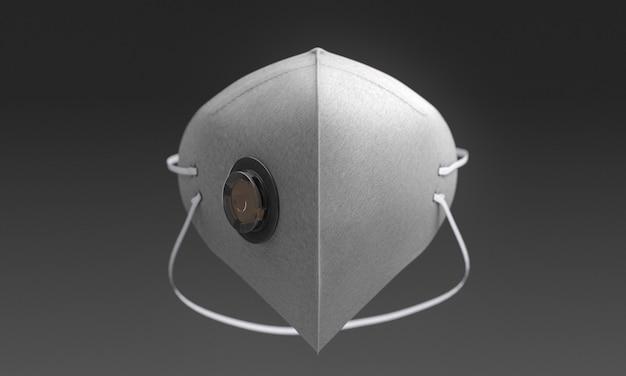Weiße medizinische maske mit filter