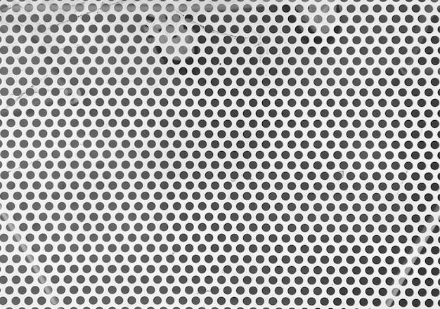 Weiße metallmaschen-tischoberflächenwand