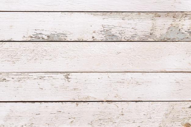 Weiße natürliche holzwandbeschaffenheit und -hintergrund, leere oberfläche weißes holz für design, draufsicht weißer tisch und kopierraum