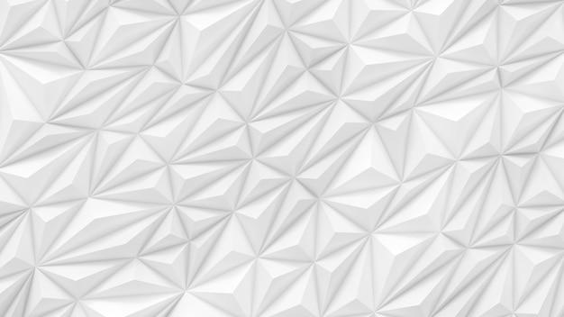 Weiße niedrige polyhintergrundabstraktion mit der renderillustration des kopierraums 3d