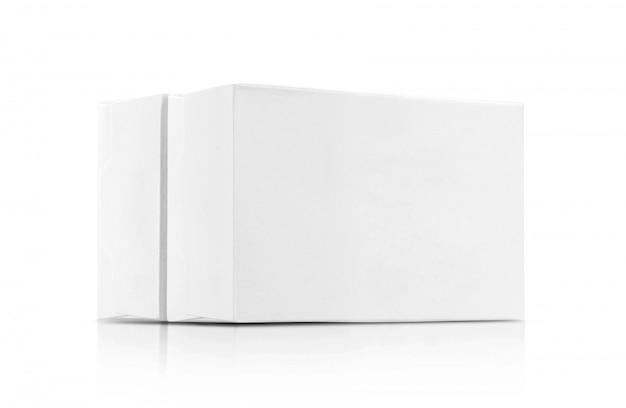Weiße papierkästen