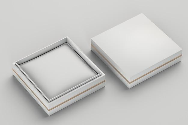 Weiße pappschmuck-geschenkbox isoliert