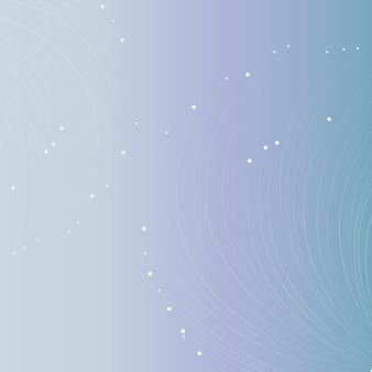 Weiße partikellinien futuristischer hintergrund mit farbverlauf