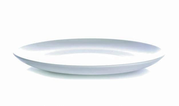 Weiße platte auf weißem hintergrund