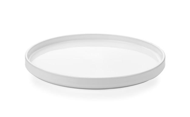 Weiße platte isoliert