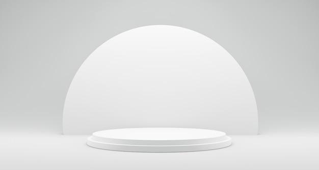 Weiße plattform zum anzeigen des produkts