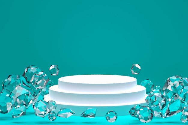 Weiße podest- und kristallformen