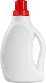Weiße reinigungsmittelflasche aus kunststoff - isoliert