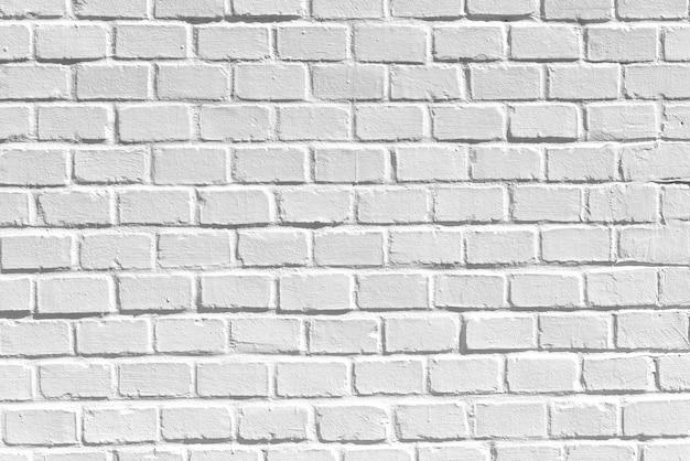 Weiße saubere backsteinmauer, als beschaffenheit, hintergrund oder hintergrund, bild der hohen auflösung