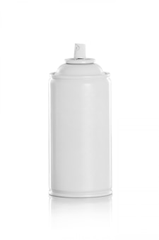 Weiße spraydose
