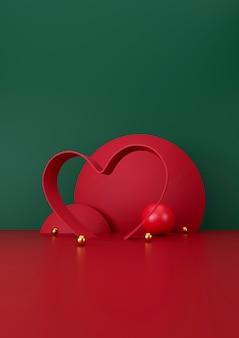 Weiße tasse kaffee auf grünem und rotem hintergrund