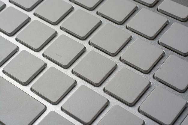 Weiße tastatur ohne symbole.