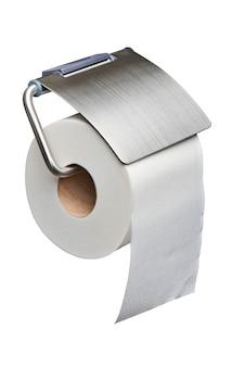 Weiße toilettenpapierrolle zufuhr getrennt