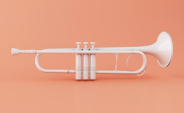 Weiße trompete 3d