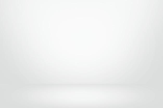 Weiße und graue steigungwandfahne, leerer studioraum und innenraum für anwesendes produkt