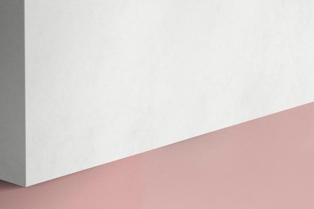 Weiße und rosa produktwand