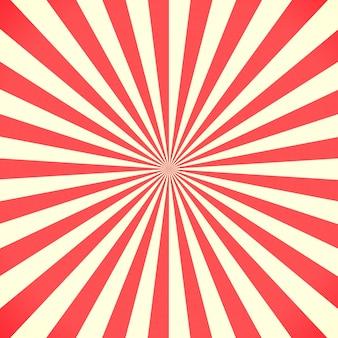 Weiße und rote sunburst muster hintergrund