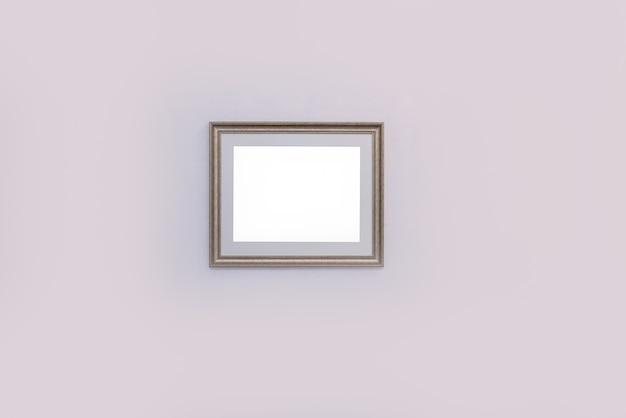 Weiße wand mit modernem bilderrahmen