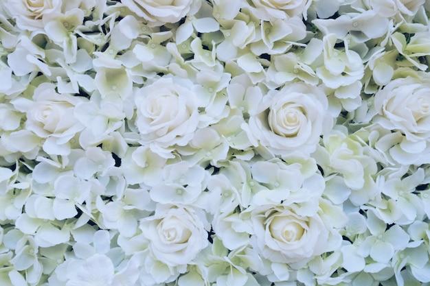 Weiße weinleseblumenbeschaffenheit.