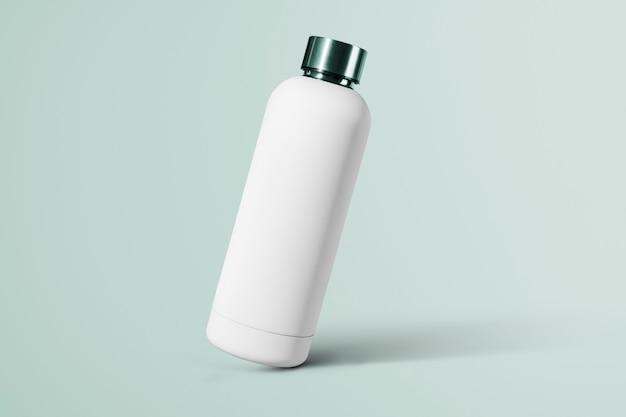 Weiße wiederverwendbare wasserflasche