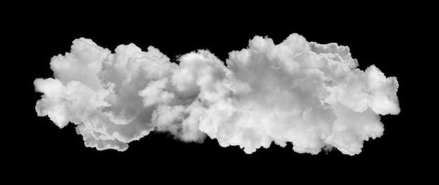 Weiße wolken auf schwarzem hintergrund